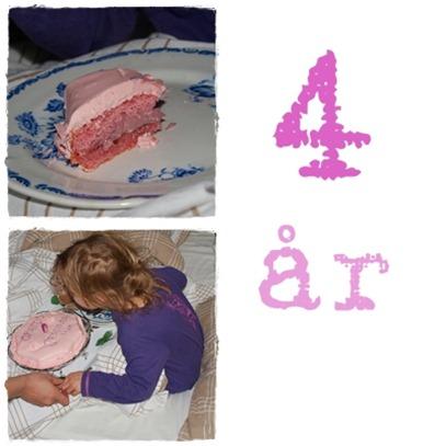 tårta och fyra år